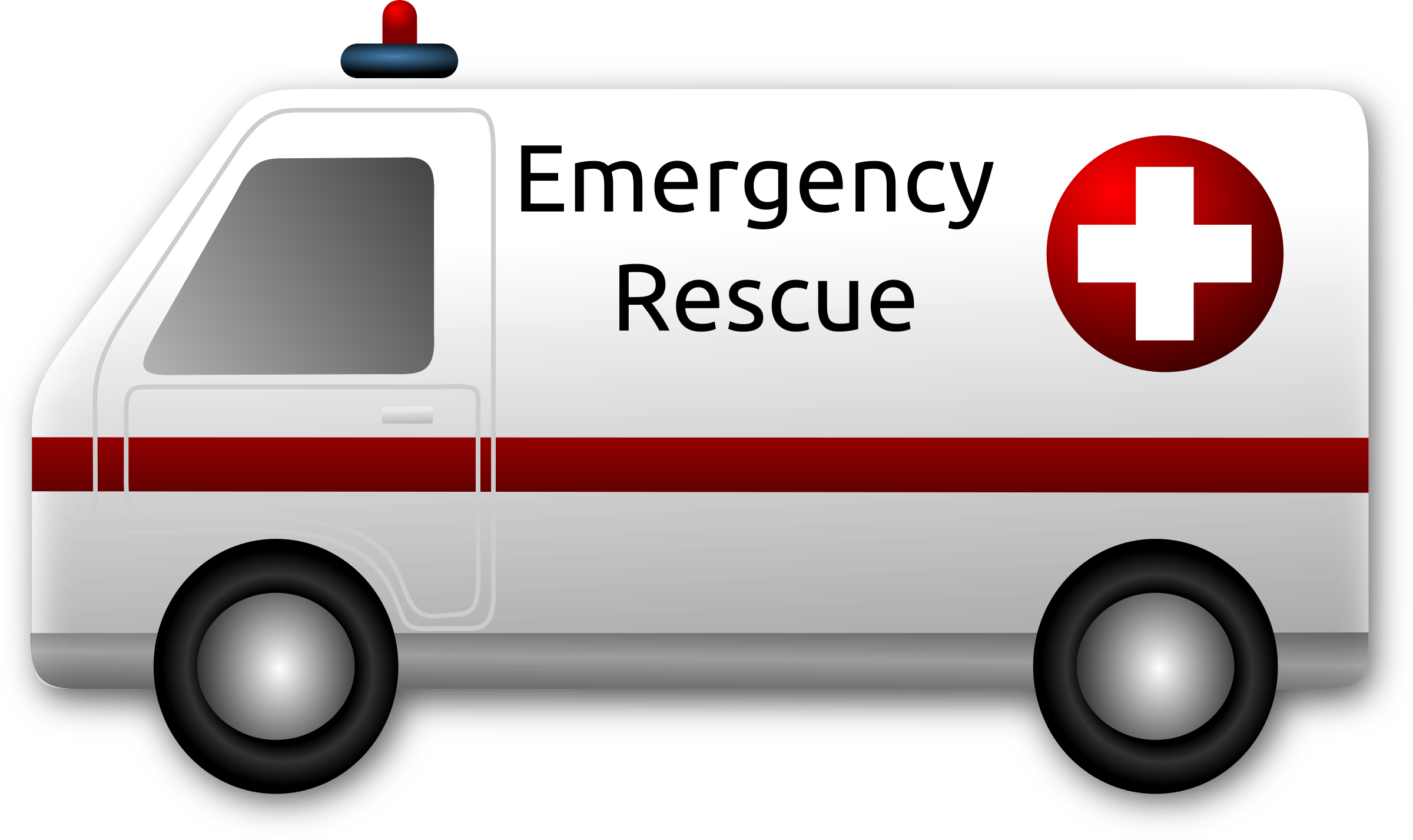 Clipart emergency rescue ambulance