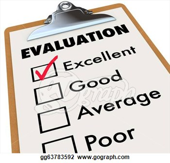 Clipart Evaluation Report Card Clipboard Assessment Grades Stock