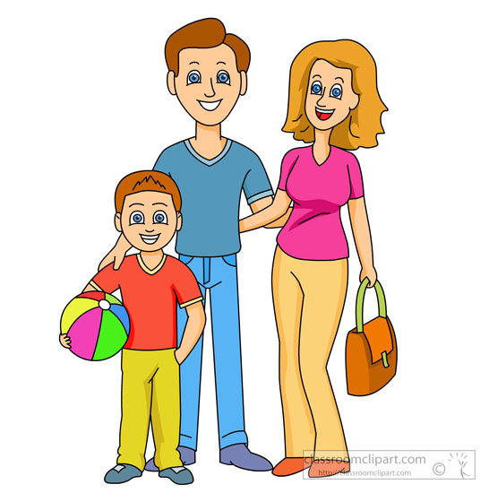 Clipart Family Mother Father Son 427 Classroom Clipart