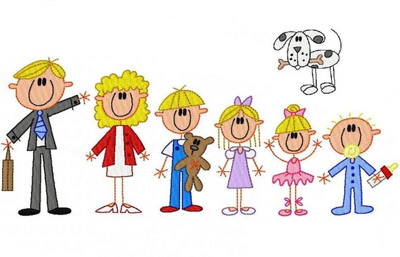 Clipart Family Of 6 Family