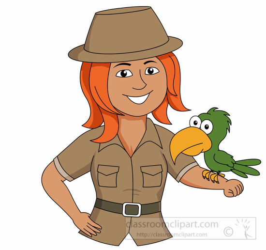 -clipart. Female Zookeeper .
