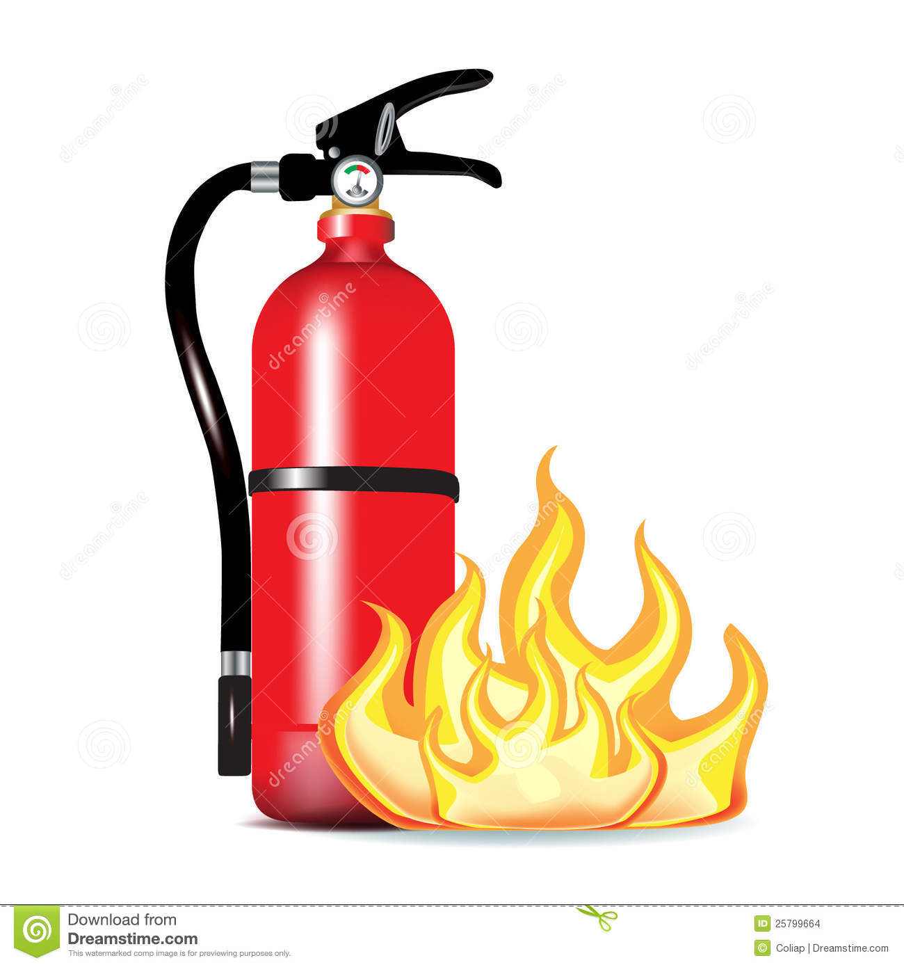 Clipart. Fire Extinguisher .-Clipart. Fire extinguisher .-4