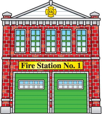 Clipart, Fire Stations, .