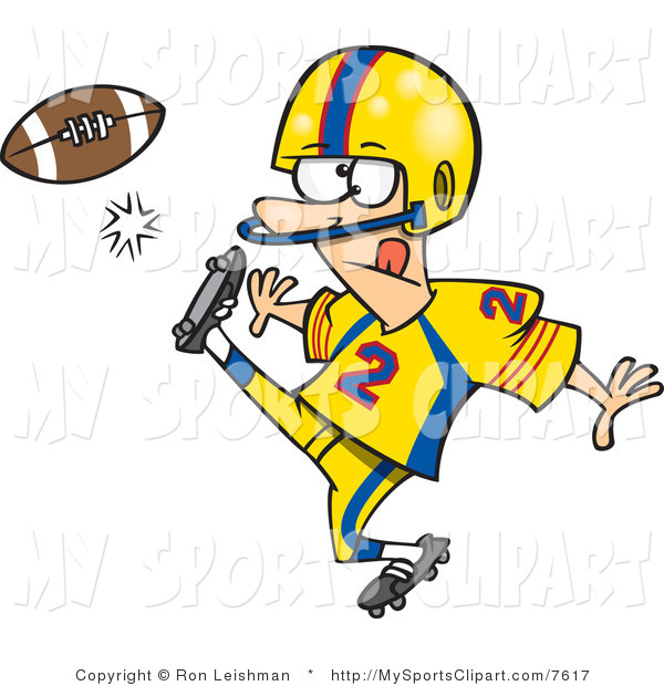 clipart football player