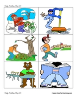 Clipart For Kids Chores Funpi - Daily Routine Clipart