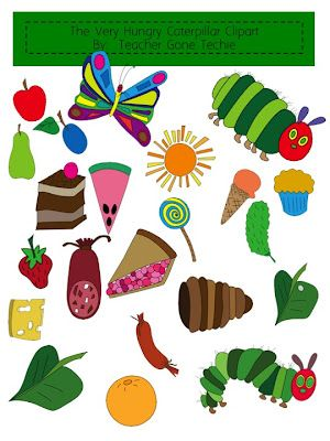 clipart for the very hungry caterpillar.
