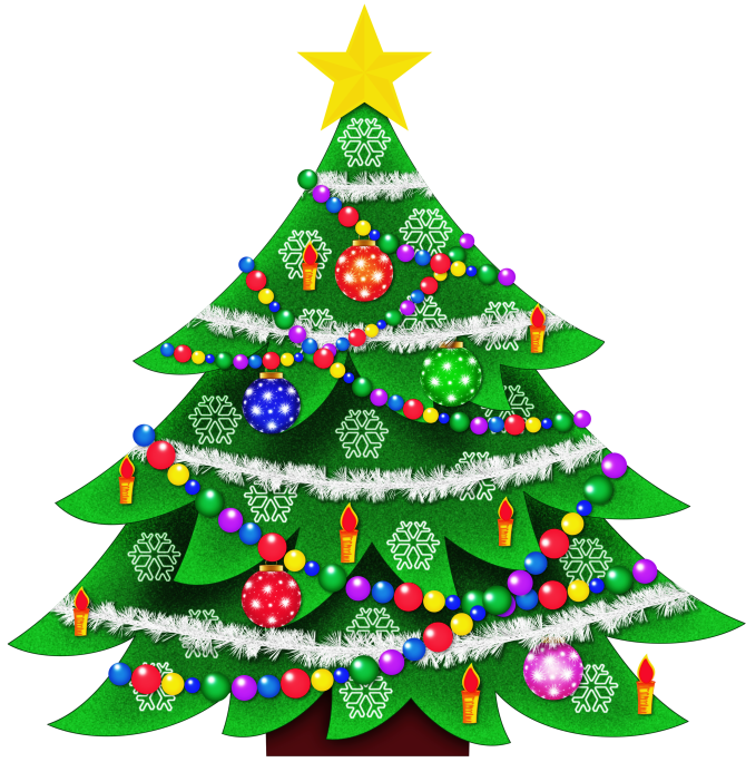 Clipart free christmas tree - .