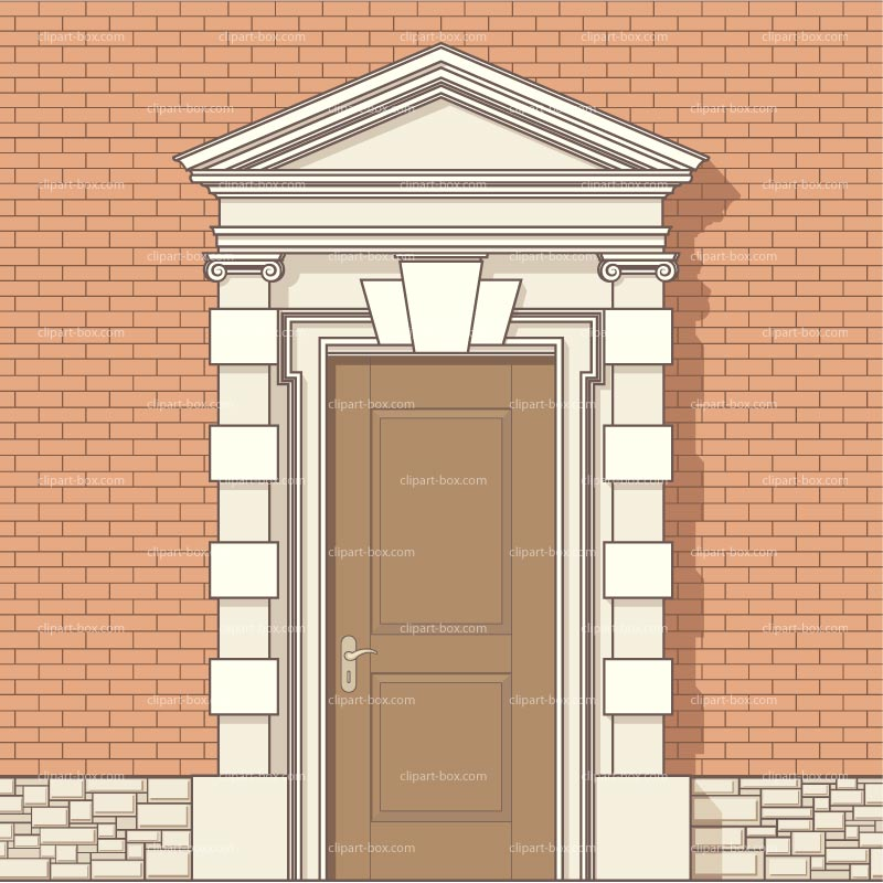 Clipart Front Door Royalty Free Vector Design