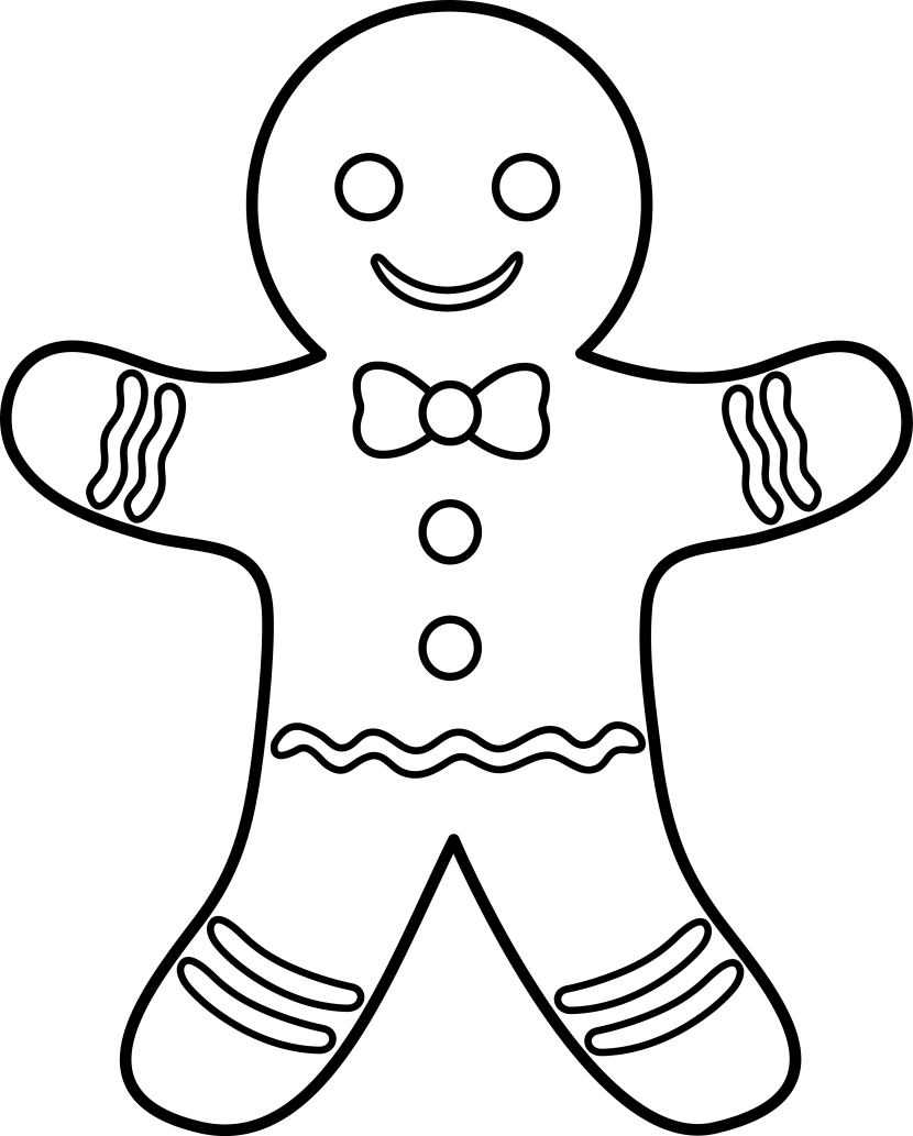 clipart gingerbread man