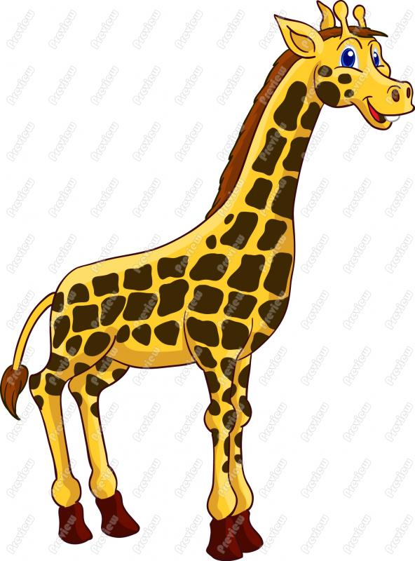 Free Cartoon Giraffe Clip Art