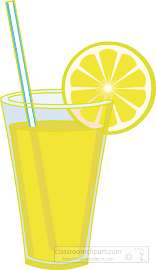 Clipart Glass Of Lemonade With Lemon Slice 4 Classroom Clipart