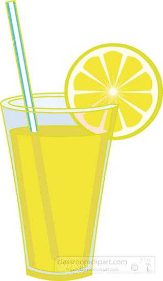 Clipart Glass Of Lemonade With Lemon Slice 4 Classroom Clipart