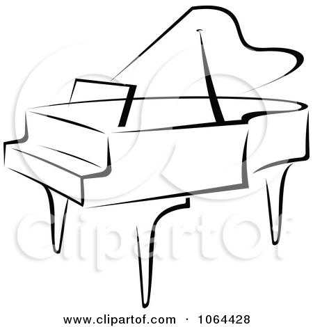 Clipart Grand Piano In Black .-Clipart Grand Piano In Black .-18
