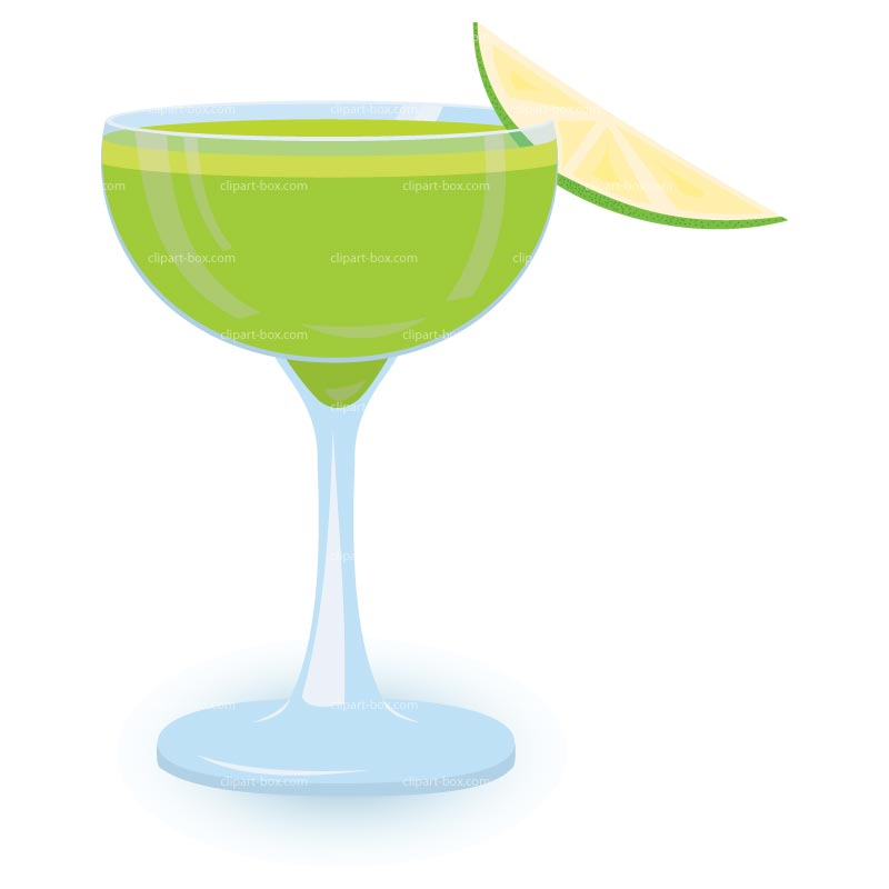 CLIPART GREEN COCKTAIL .