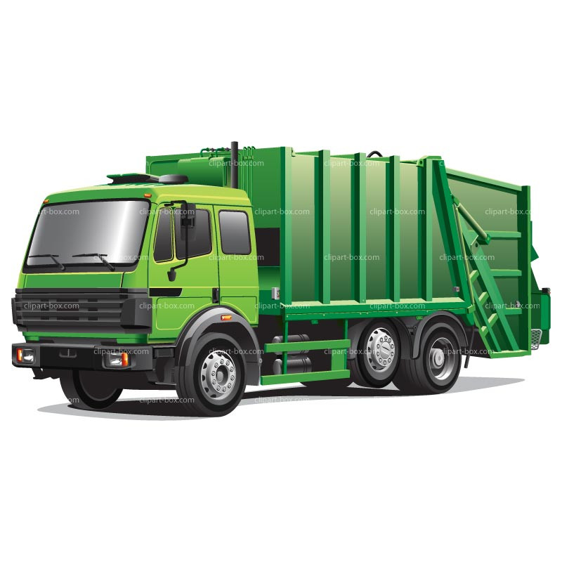 Clipart Green Garbage Truck Royalty Free-Clipart Green Garbage Truck Royalty Free Vector Design-1