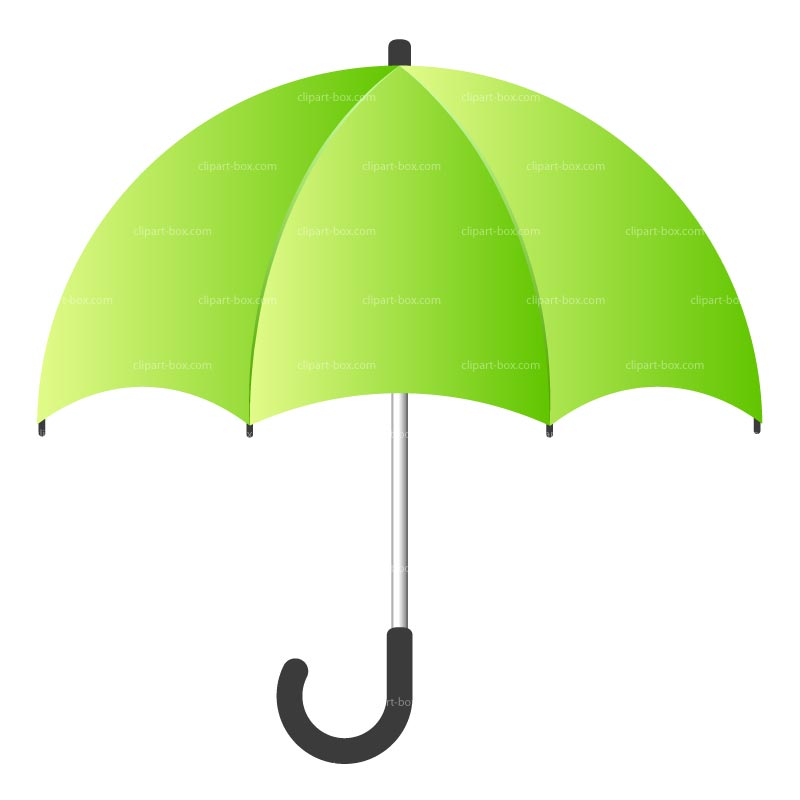 Clipart Green Umbrella Royalty Free Vector Design