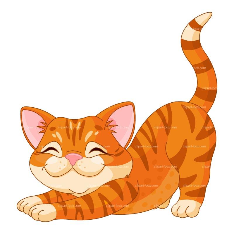Clipart Happy Kitten Royalty Free Vector-Clipart Happy Kitten Royalty Free Vector Design-0