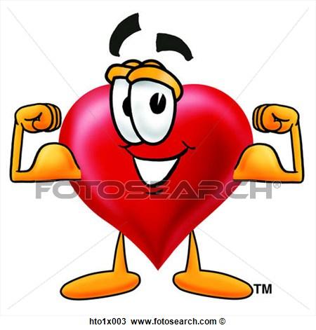 Clipart Herz Biegen Muskeln Hto1x003 Suche Clip Art Illustration