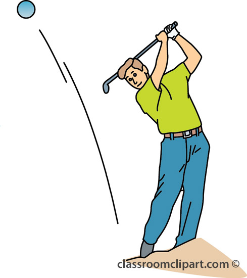 Clipart Hitting Golf Ball Out Of Sand Trap 23 Classroom Clipart