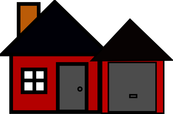 Clipart House House With Garage Clip Art-clipart house house with garage clip artcodys house clip art vector clip art online royalty free-5