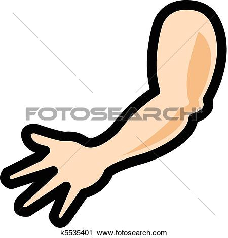 Clipart - Human shoulder, arm, elbow and hand. Fotosearch - Search Clip Art