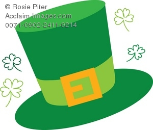 Clipart Illustration of a Leprechaun Hat