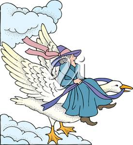 Clipart Illustration Of Mother Goose-Clipart Illustration of Mother Goose-3