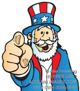 Clipart Illustration Of Uncle - We Need You Clip Art