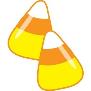 Clipart Image - Candy Corn .
