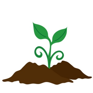 Clipart Image Clip Art Illustration Of A Seedling Growing In Soil