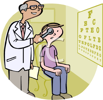 Clipart Image. Eye Doctor .