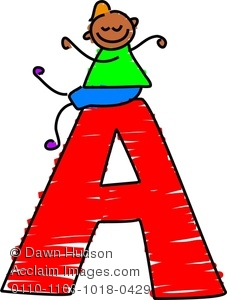 Clipart Image of A Happy . - Letter A Clip Art