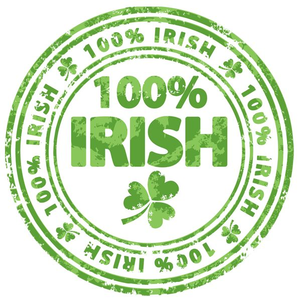 clipart images irish | Clip Art of a 100 Percent Irish Badge