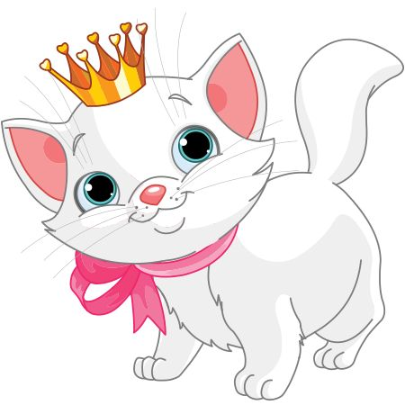 Clipart Images Of Cat. Princess Kitten