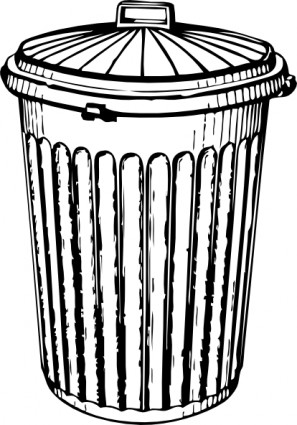 Clipart Images; Trash Can .