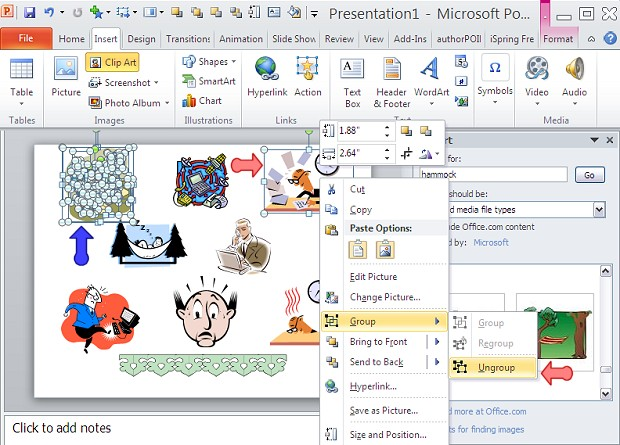 Clipart In Powerpoint 2010 .