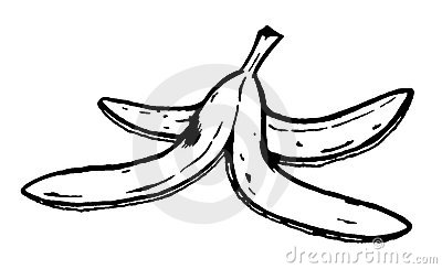 Clipart Info. Banana Peel Royalty Free Stock .