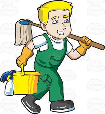 clipart janitor