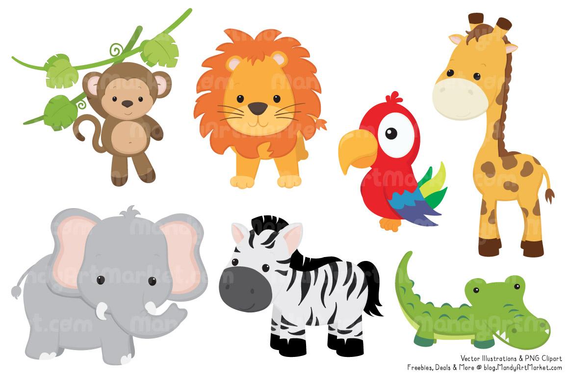 Clipart jungle animals - ClipartFest
