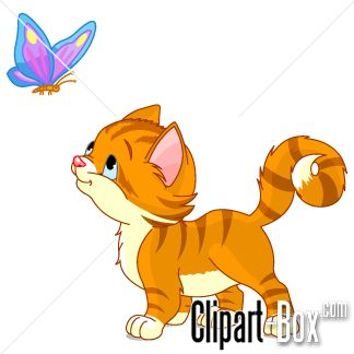 CLIPART KITTEN PLAYING WITH B - Kittens Clipart
