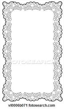 Clipart Lace Doily Frame Fotosearch Search Clipart Illustration