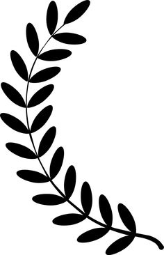 Clipart - Laurel wreath single .