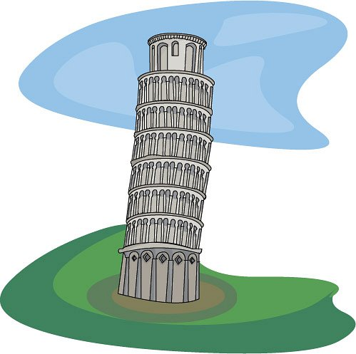 Clipart Leaning Tower Of Pisa Classroom Clipart