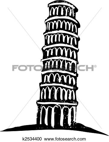Clipart - Leaning Tower of Pisa. Fotosearch - Search Clip Art, Illustration Murals,