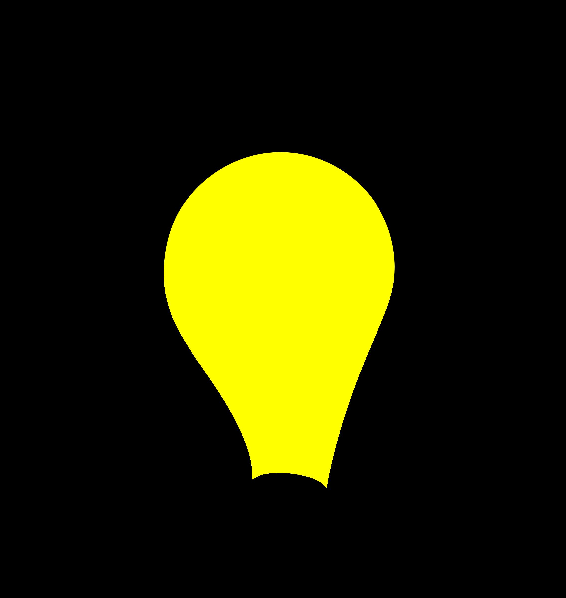 Clipart light bulb lit
