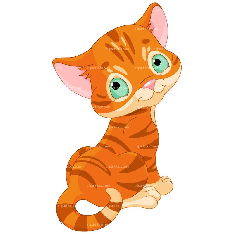 Clipart Lovely Kitten Royalty - Cute Kitten Clipart