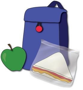 clipart lunch bag