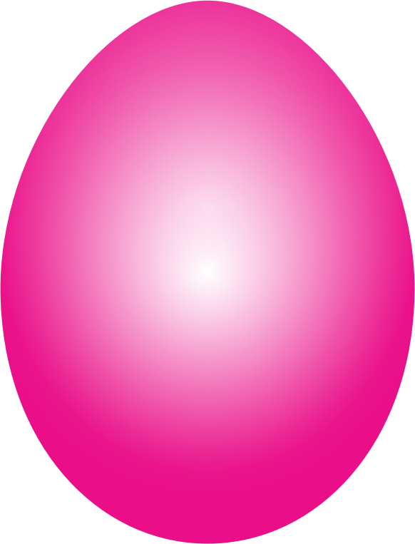 Clipart Magenta Easter Egg