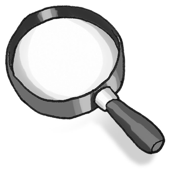 clipart magnifying glass