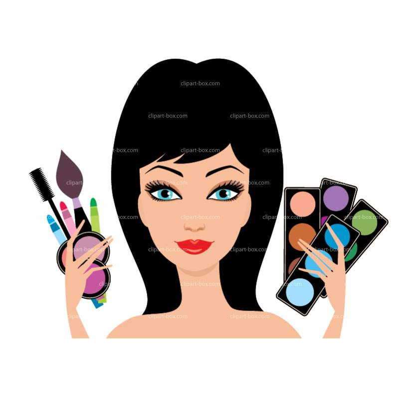 Clipart Makeup Kit Royalty Free Vector Design